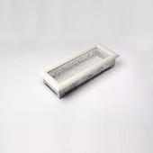 Решетка каминная Kratki объемная 10.5 х 25 белая