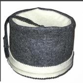 Шапка для сауны ФЕСКА серый войлок