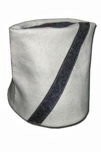 Шапка для сауны ПАПАХА светло-серый войлок