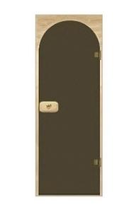 Двери арочные тонированная бронза 70х190 см