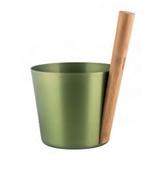 Шайка Rento алюминий с бамбуковой ручкой - Береза