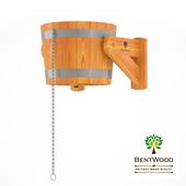 Ведра-водопад Bentwood из лиственницы, 20л.