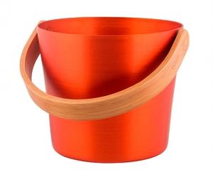 Ведро для бани RENTO алюминий с бамбуковой ручкой - Крушина