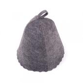 Шапка для сауны (серый войлок) без вышивки