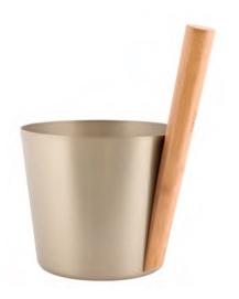 Шайка Rento алюминий с бамбуковой ручкой - Шампань
