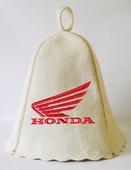 """Шапка для сауны (светло-серый войлок) """"Honda"""""""