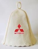 """Шапка для сауны (светло-серый войлок) """"Mitsubishi"""""""