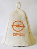 """Шапка для сауны (светло-серый войлок) """"Opel"""""""