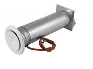 Вентиляционный блок с электрическим подогревом Ø110/78 см.кв. белый